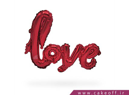 بادکنک فویلی | love قرمز