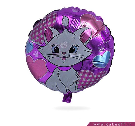 خرید بادکنک تولد - بادکنک فویلی گربه اشرافی | کیکآف