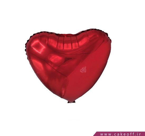 انواع بادکنک تولد - بادکنک قلبی فویلی قرمز   کیکآف