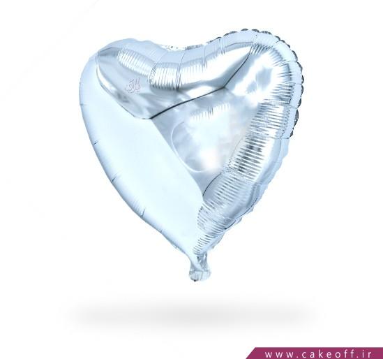 بادکنک قلبی فویلی نقره ای | کیکآف