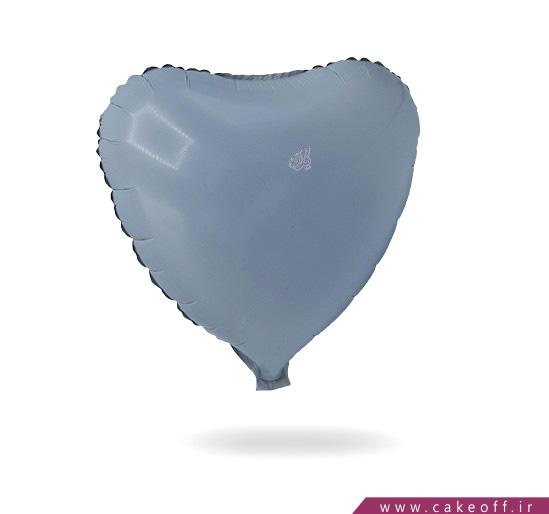 خرید اینترنتی لوازم جشن - بادکنک قلبی فویلی سفید | کیکآف