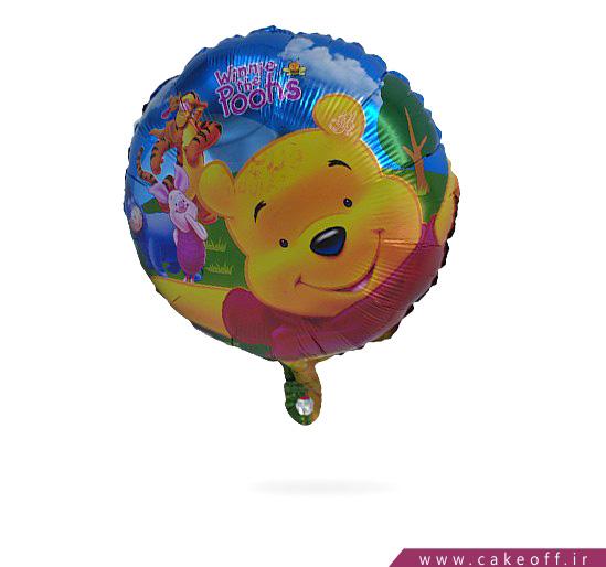 فروش آنلاین لوازم تولد - بادکنک فویلی گرد خرس پو | کیکآف