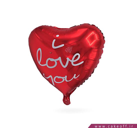 بادکنک قلبی فویلی قرمز love you | کیکآف