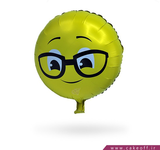 خرید اینترنتی بادکنک تولد - بادکنک فویلی اموجی عینکی | کیکآف