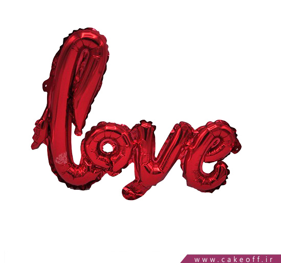 فروش آنلاین لوازم جشن - بادکنک فویلی قرمز love | کیکآف