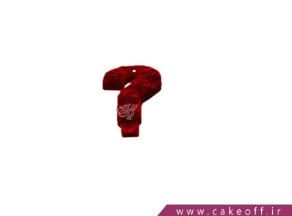شمع تولد - شمع علامت سوال مخملی قرمز | کیک آف