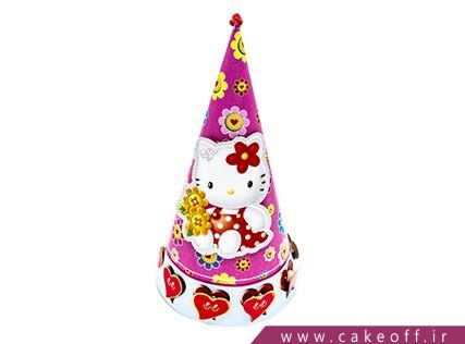 کلاه تولد دخترانه - کلاه کیتی طرح قلب | کیکآف