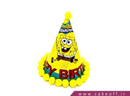 کلاه تولد کودک - کلاه باب اسفنجی طرح توپکدار | کیکآف