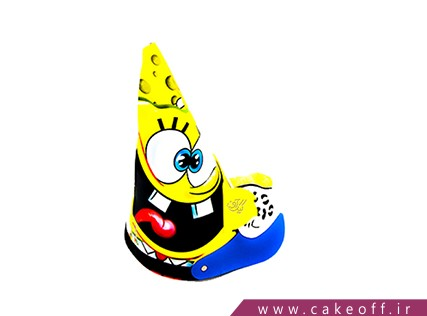 وسایل تولد باب اسفنجی - کلاه بوقی تم باب اسفنجی و پلنگ | کیکآف
