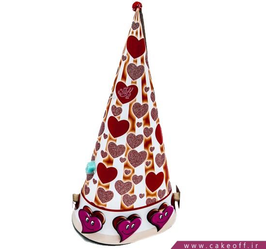 کلاه تولد عاشقانه - کلاه بوقی طرح قلب | کیکآف