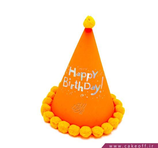 کلاه جشن - کلاه بلک لایت توپکدار نارنجی | کیکآف
