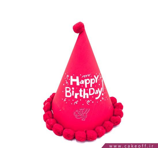 لوازم جشن - کلاه بلک لایت توپکدار قرمز | کیکآف