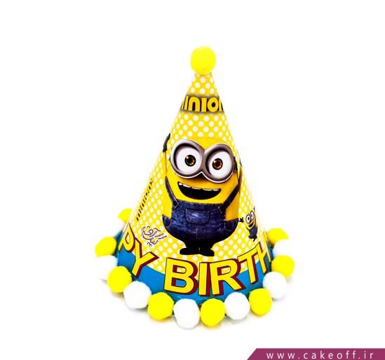 کلاه تولد کودک - کلاه تولد توپکدار مینیون | کیکآف