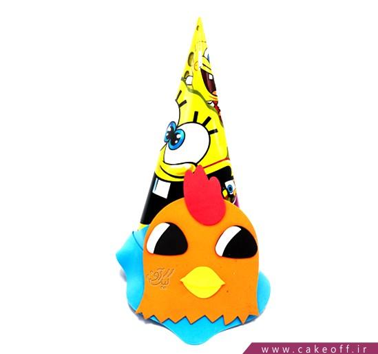 کلاه تولد کودک - کلاه تولد باب اسفنجی و جوجه فوکلی | کیکآف