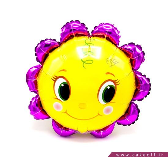 خرید بادکنک تولد - بادکنک فویلی گل آفتاب گردون | کیک آف