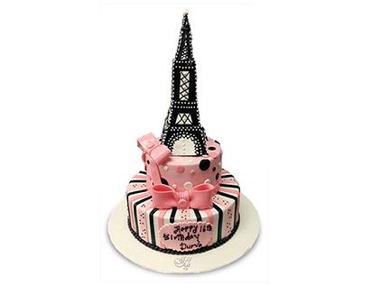 سفارش کیک فوندانتی - کیک ایفل | کیک آف