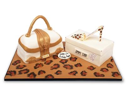 کیک فوندانتی کیف و کفش پلنگی | کیک آف