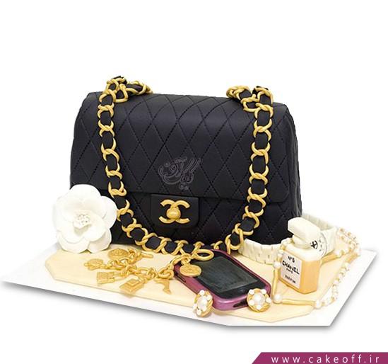 سفارش کیک فوندانتی - کیک کیف چرم | کیک آف