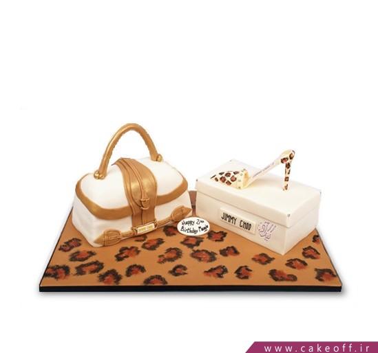 کیک کیف و کفش پلنگی