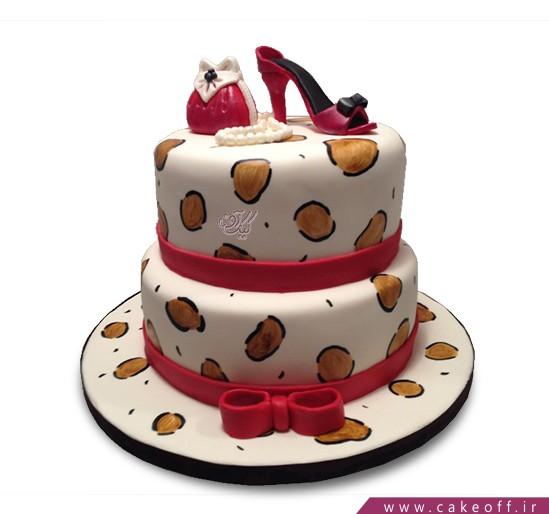 کیک کیف و کفش قرمز