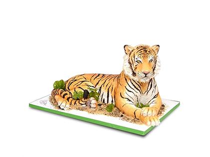 کیک تولد حیوانات - کیک ببر جنگل | کیک آف