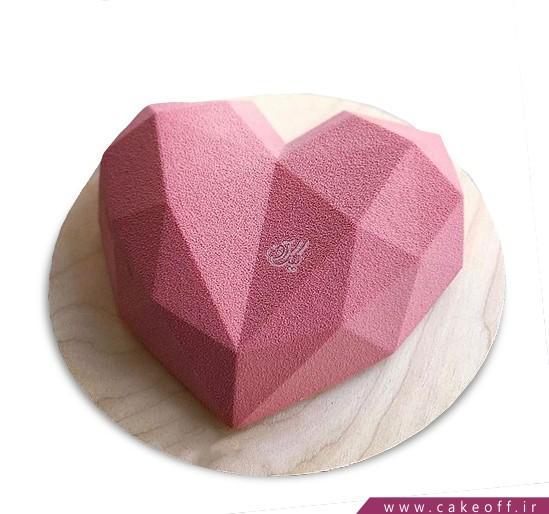 کیک سالگرد ازدواج - کیک قلب سه بعدی | کیک آف