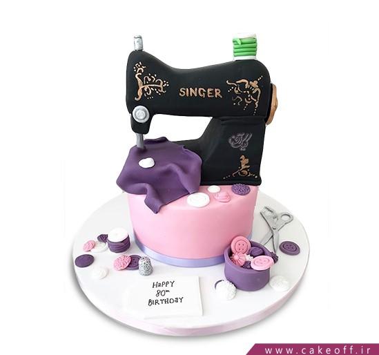 کیک تولد دخترانه دوخت و دوز
