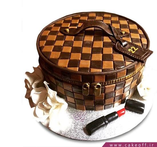 کیک تولد زنانه میکاپ باکس | کیک آف