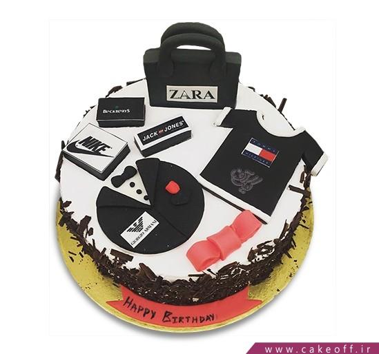 کیک تولد مردانه برند پوشان