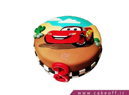 کیک مک کوئین قهرمان | کیک آف