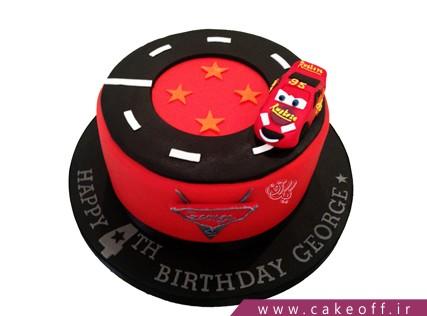 کیک ماشین مک کویین تیز رو | کیک آف