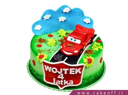 کیک ماشین مک کوئین در جاده زیبا | کیک آف