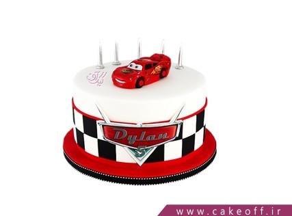کیک ماشین مک کوئین | کیک آف