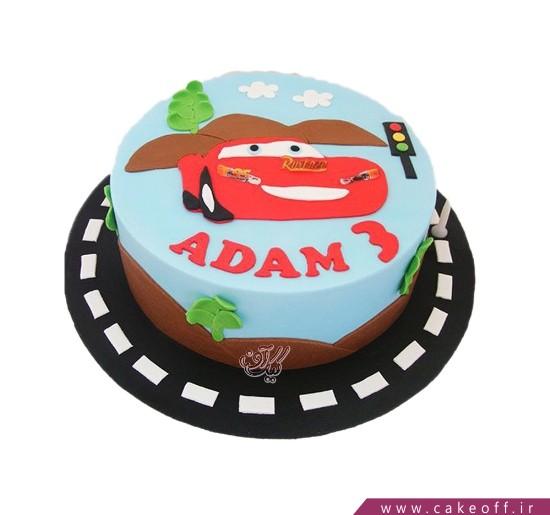 کیک ماشین مک کوئین قانون مدار | کیک آف