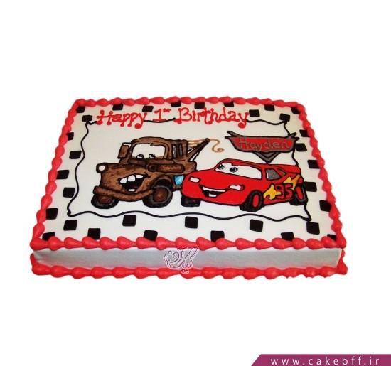 کیک مسابقه مک کوئین و دوستش
