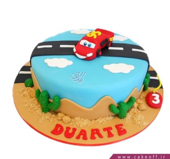 کیک ماشین مک کوئین روی ابرها | کیک آف