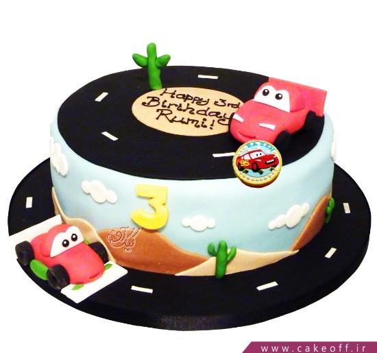 کیک ماشین مک کویین در بیابان