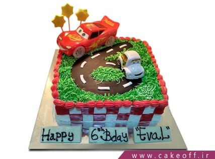 کیک ماشین - کیک تولد مک کویین 7 | کیک آف