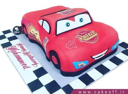 کیک ماشین - کیک تولد مک کویین 8 | کیک آف