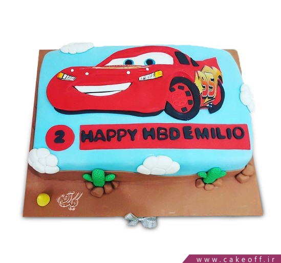 کیک ماشین - کیک تولد مک کویین ۱۰ | کیک آف