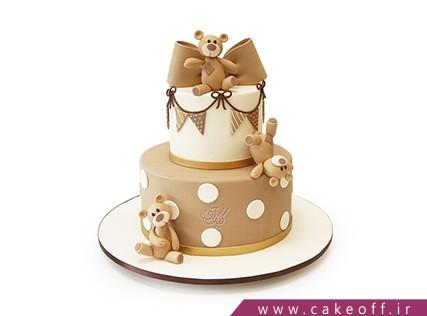 کیک حیوانات - کیک تولد بچه گانه - کیک تولد خرس های بازیگوش | کیک آف