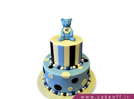 کیک تولد حیوانات - کیک تولد پسرانه - کیک تدی خرسه تنهاس | کیک آف