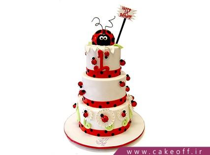 کیک تولد کفشدوزک - کیک حیوانات - کیک باران کفشدوزک ها | کیک آف