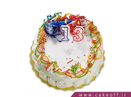 سفارش آنلاین کیک تولد در اصفهان - کیک خامه ای پیچ پیچی | کیک آف