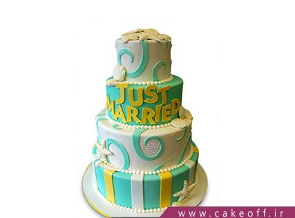 کیک طبقاتی - کیک تولد جزایر قناری | کیک آف