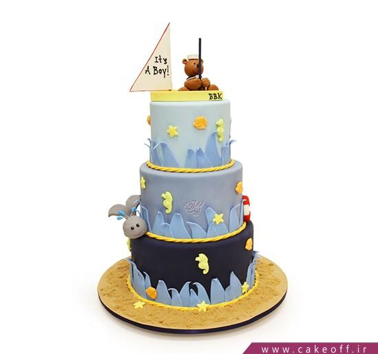 کیک تولد حیوانات - کیک فوندانتی ماهی گیری خرسی | کیک آف