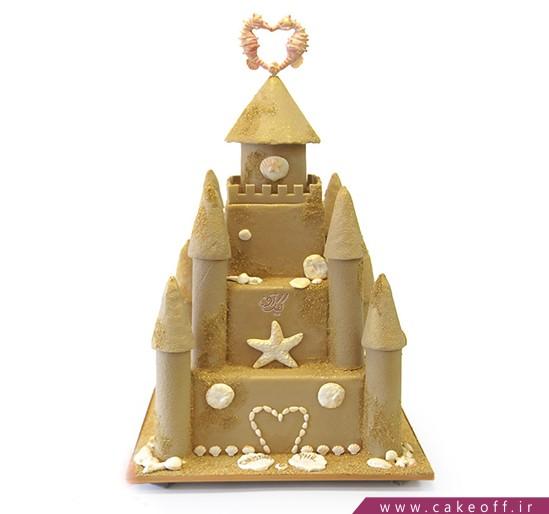سفارش اینترنتی کیک تولد - کیک تولد قلعه دریایی   کیک آف