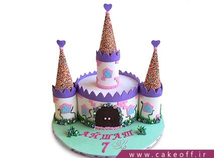 سفارش آنلاین کیک - کیک تولد بچگانه - کیک تولد قلعهی حیوانات | کیک آف