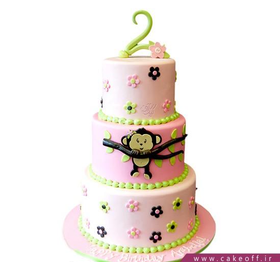 جدیدترین کیک تولد - کیک تولد دخترانه میمون خانم | کیک آف