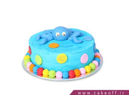 کیک تولد حیوانات - کیک بچه گانه - کیک اختاپوس تنها | کیک آف